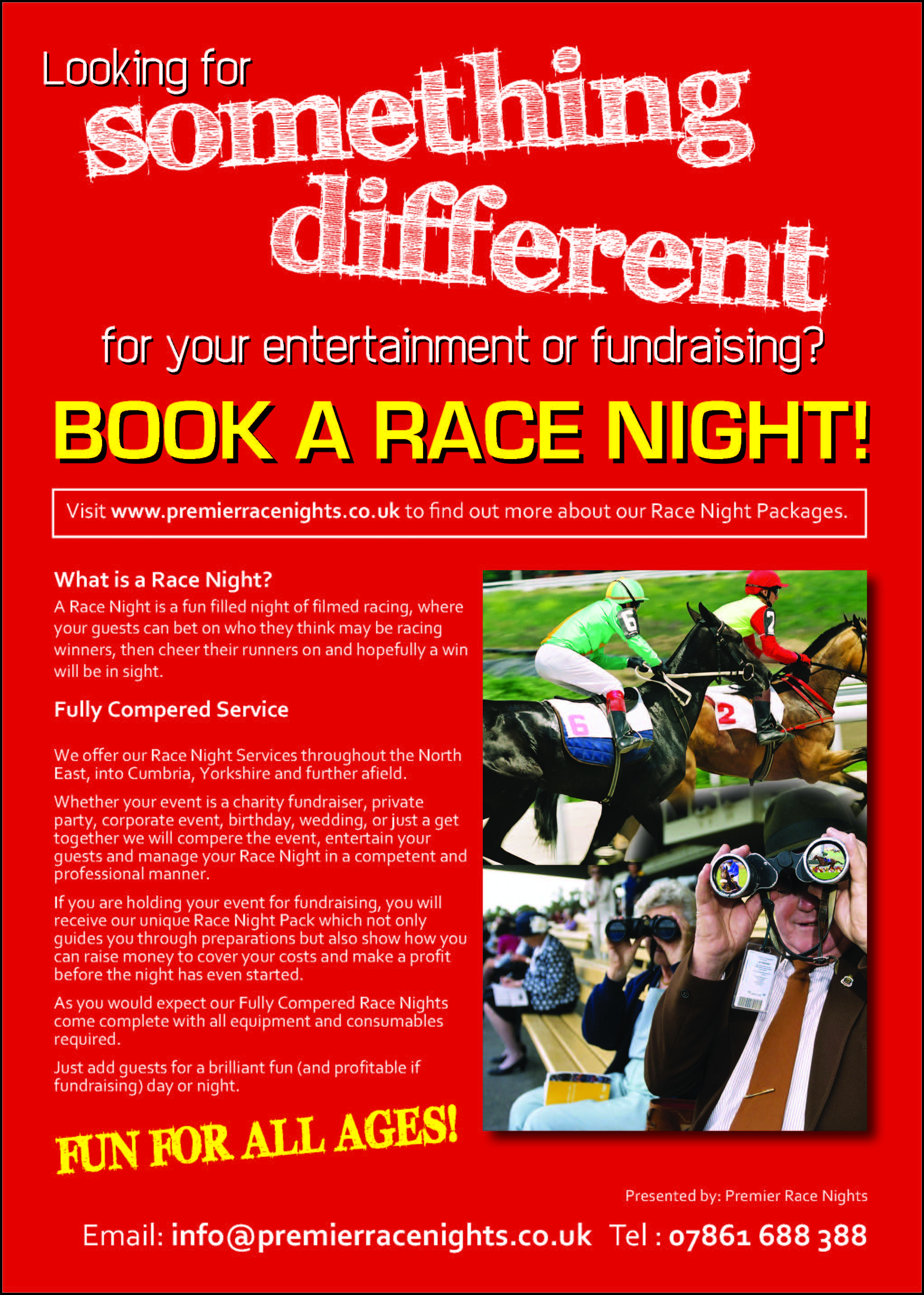 How To Fundraise at a Charity Race Night
